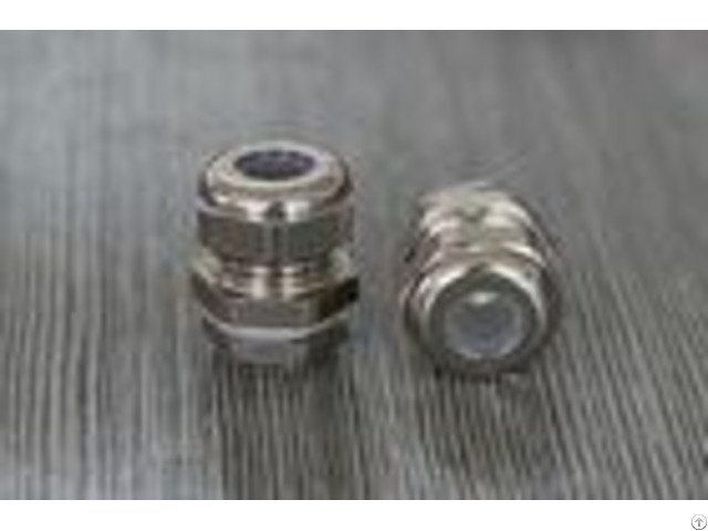 Nickel Plated Electric Brass Waterproof Cable Gland With Rubber Seal Ul Approved