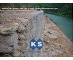 Monolithic Galvanized Iron Wire Hexagonal Welded Mesh Gabions Retaining Wall