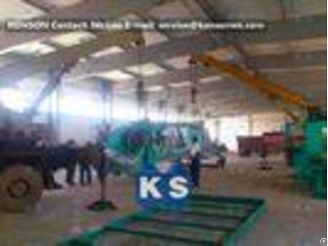 Heavy Galvanized And Zinc Gabion Wire Netting Machine 100x120mm 3200mm Width