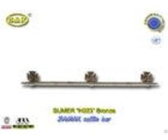 H023 Metal Coffin Long Bar Made Of Zamak Zinc Herrajes De Ataudes 1 Meter With 3 Bases