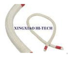 Heat Proof Resistant Insulation Rope For Sealing White Color Braided Twisted