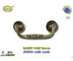 High Performance Zamak Metal Coffin Handles Size 19 7cm Rod H009 Antique Bronze Color