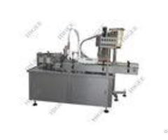 Electronic Smoke Eye Drop Liquid Oil Filling Machine Capping Labeling Line With Piston Pump