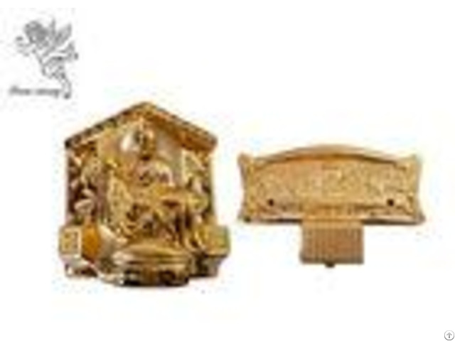 Gold Plastic Casket Accessories American Style Funeral Coffin Fittings Suppliers