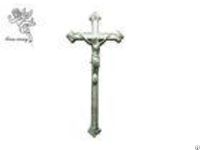 Jesus Decorative Funeral Crucifix Silver Copper Color Coffin Cross Pp Material