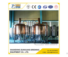 500l Brew House With Red Copper
