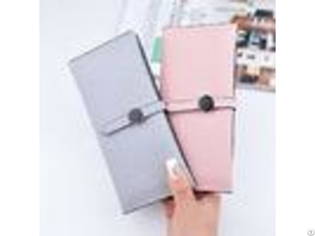 Female Foldable Leather Clutch Wallet Large Capacity For Money Coin Card Holders