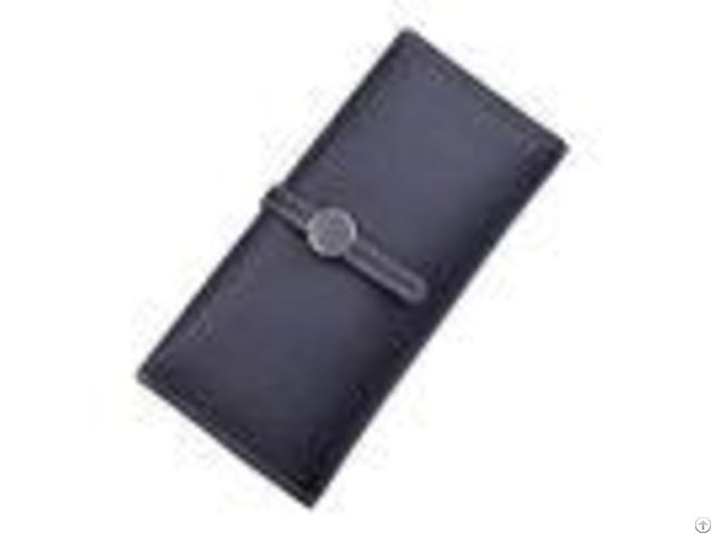 Women Pu Leather Money Clip Wallet Durable Hardware Buckle With Polyester Lining Material