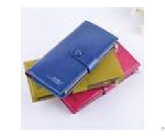 Female Genuine Leather Clutch Wallet Large Capacity With Zipper Buckle