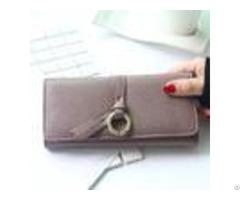 Vintage Pu Ladies Women S Zipper Wallet Pink With Photo Holder Ticket Bit