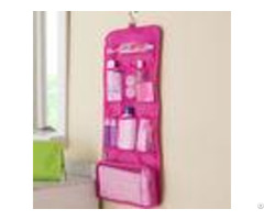 Square Hanging Foldable Travel Cosmetic Bags For Women Make Up Organizer