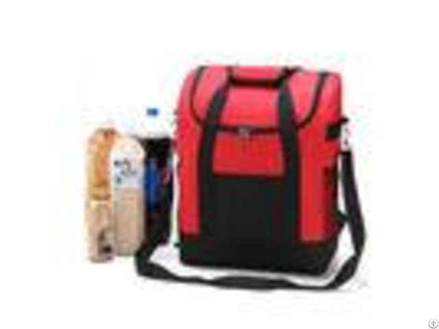 Large Thicken Folding Insulated Cooler Bags With Fresh Keeping Waterproof Nylon