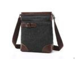 Male Poly Cotton Cross Shoulder Bag Smooth Zipper Oem With Soft Canvas Fabric