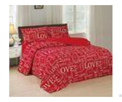 Red Fabric 4 Piece Bedding Set Quick Drying With Iso9001 Certificated