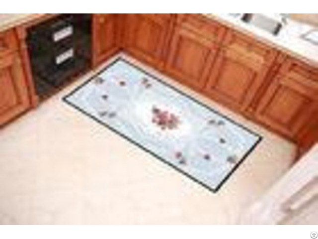 Floral Printing Outdoor Door Mats Durable With 100% Polyester Fleece Fabric