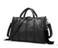 Tassel Crossbody Fashion Ladies Handbags Soft Leather For Business Trip
