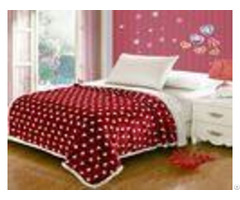 Double Layers Flannel Throw Blanket Oblong Shape Durable For Keeping Warm