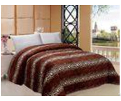 Leopard Style Winter Quilt Sets Square Stitching With Iso9001 Certification