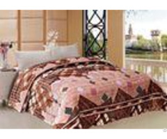 Geometric Design Winter Quilt Sets Stitching 180x240cm 220x240cm Multiple Sizes