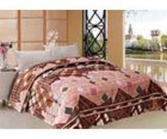 Geometric Design Winter Quilt Sets Stitching 180x240cm 220x240cm Multiple Sizes