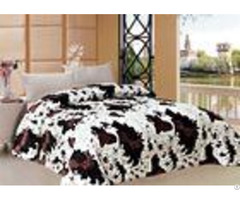 Cows Graphic Comforter Winter Quilt Sets With 150gsm Or 200gsm Polyester Filling