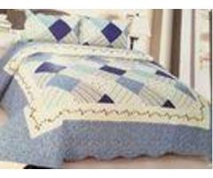 Comfotable Quilt Bedding Set Cotton Comforter Sets Border In Wave Or Straight