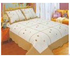Leaf Pattern Embroidery Quilt Kits With High Standardized Production Line