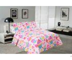 Cake Pattern Printed Quilt Set Washable 240x260 260x280cm Bed Cover Sizes