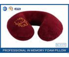 Cartoon Embroidery Comfortable Memory Foam Travel Neck Pillow Violet Red Blue
