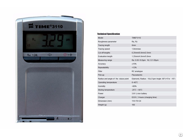 Ragged Pocket Size Surface Roughness Tester Time®3110