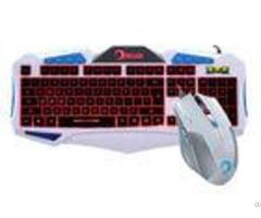 Led Backlit Gaming Keyboard And Mouse Combo Customized Layout 104 Key