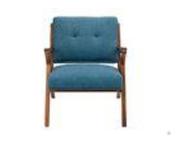 Blue Arm Accent Chair Deattached Seat Fabric Living Room Chairstight Back