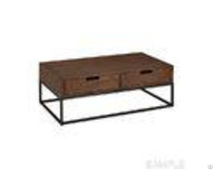 Rustic Solid Wood Coffee Table With Storage Square Oak Occasional Tables