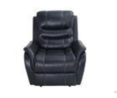Power Motion Leather Recliner Chairs With Polyester Padding Fiber Back