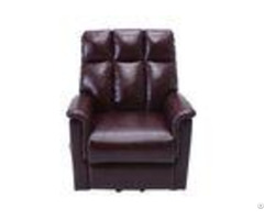 Leather Power Recliner Lift Chairs Plywood Frame With Adjustable Vibrating Mode