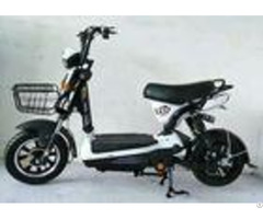 Black Brushless Electric Scooter Battery Powered Moped With Front Rear Drum