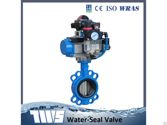 Dn50 1200 Cast Iron Butterfly Valve With Pneumatic Actuator