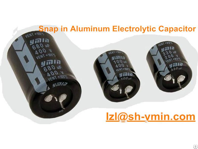 Ymin Snap In Horn Type Aluminum Electrolytic Capacitor 630v For Power Supply