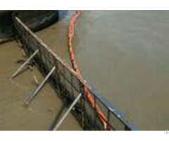 Orange Solid Float Oil Containment Boom Height 600 To 1500mm Fast Deployment