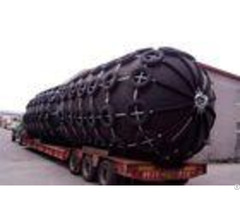 Customized Length Marine Rubber Fender With Chain And Aircraft Tyre Net