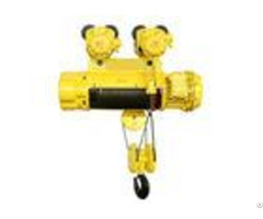 Remote Control Explosion Proof Electric Wire Rope Hoist 0 5 Ton To 16 Tons Yellow Color