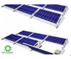 Easy Maintenance Ballasted Solar Mounting Systems Aluminum Al 6005 T5 Material