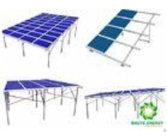 Light Weight Silver Ground Mount Solar Racking Systems Engineered Installation