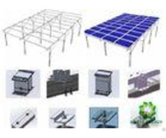 Lightweight Aluminum Ground Solar Mounting Brackets Patented Easy Installation