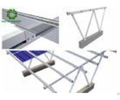 Easy Installed Silver Solar Panel Ground Mounting Systems Load Power