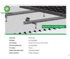 Pre Assembled Solar Pv Roof Mounting Systems Bracket Kits With Various Specs