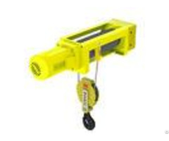 Yellow Color Mini Electric Wire Hoist 2 1 Rope Reeving Leading Crane For Lifting Goods