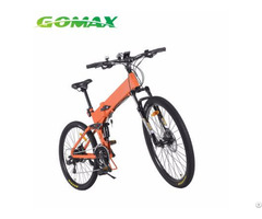 Front And Rear Led Light Portable Mid Drive Foldable Electric Bike