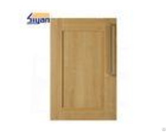 Wood Grain Shaker Kitchen Cabinet Doors 458 688mm With Pvc Film Wrapped