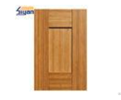 Five Panels Mdf Shaker Kitchen Cabinet Doors Dark Wood Grain Size Customized
